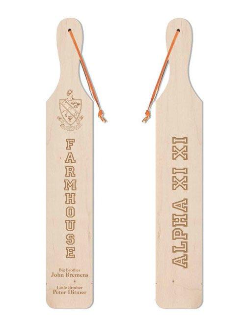 FARMHOUSE Old School Wood Greek Paddle