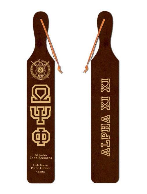 Omega Psi Phi Old School Wood Greek Paddle