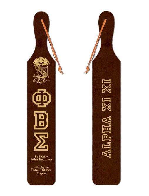 Phi Beta Sigma Old School Wood Greek Paddle