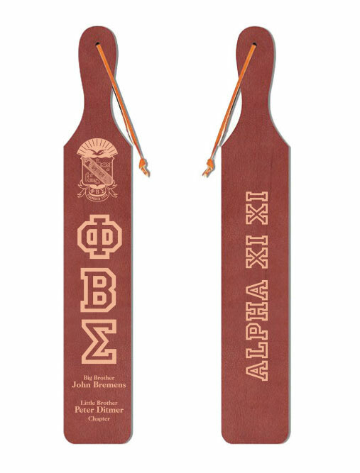 Phi Beta Sigma Old School Wood Greek Paddle