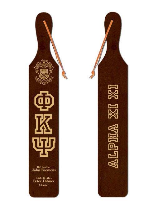 Phi Kappa Psi Old School Wood Greek Paddle