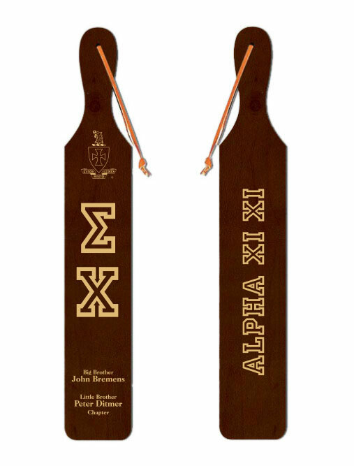 Sigma Chi Old School Wood Greek Paddle
