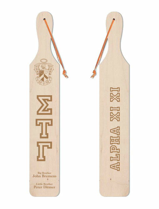 Sigma Tau Gamma Old School Wood Greek Paddle