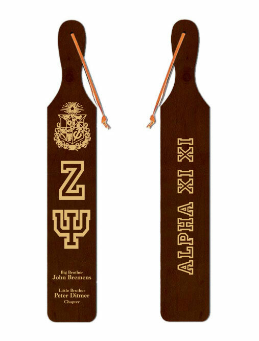 Zeta Psi Old School Wood Greek Paddle