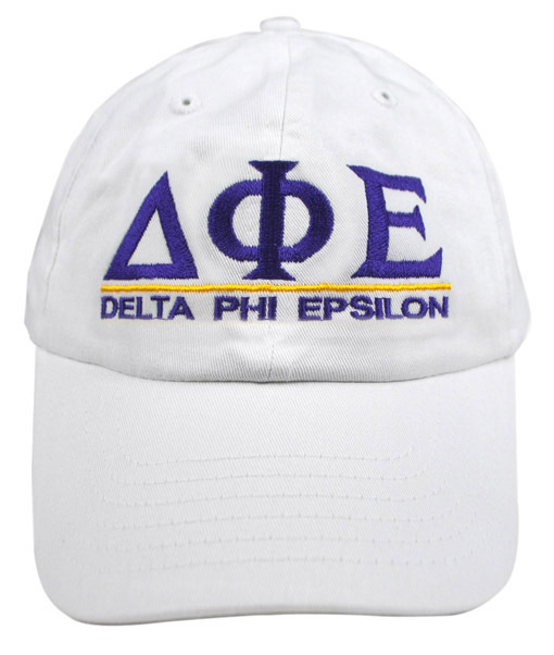 Delta Phi Epsilon World Famous Line Hat