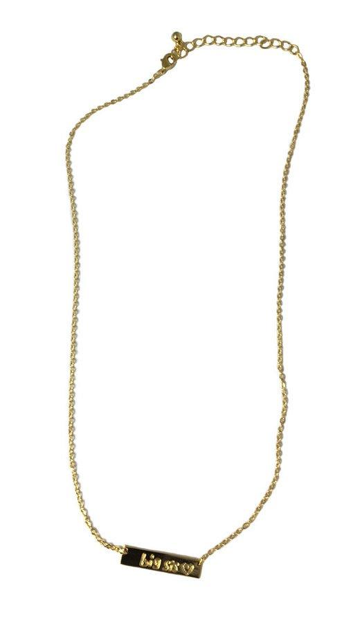 Big Sis Bar Necklace