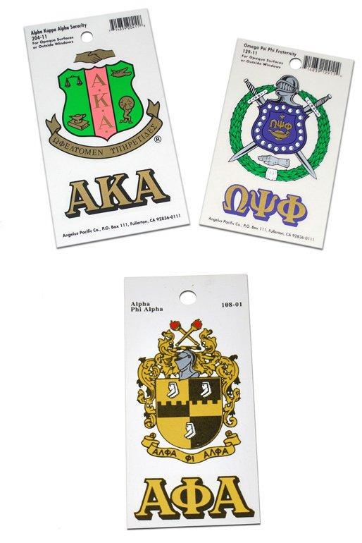 Greek Crest Decals