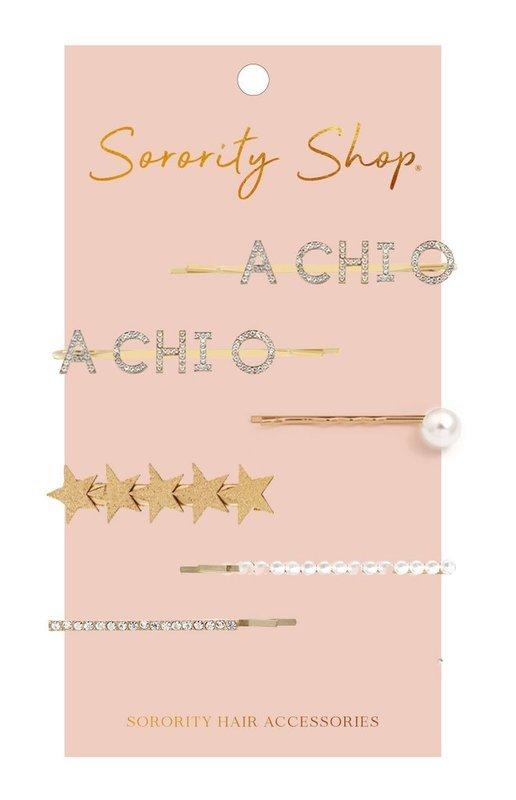 Alpha Chi Omega Hair Clips