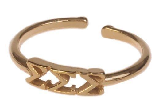 Sigma Sigma Sigma Adjustable Letter Ring