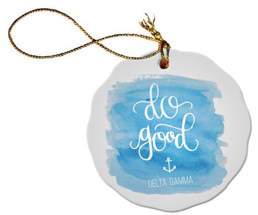 Do Good Delta Gamma Porcelain Ornament Snowball