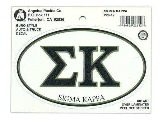 Sigma Kappa Euro Style Sticker
