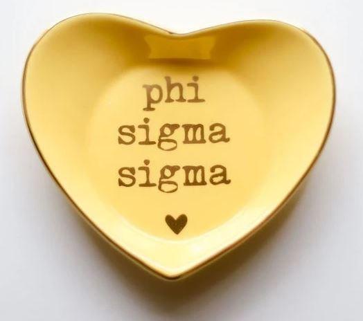 Phi Sigma Sigma Ceramic Ring Dish