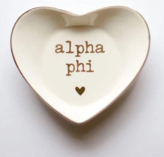 Alpha Phi Ceramic Ring Dish