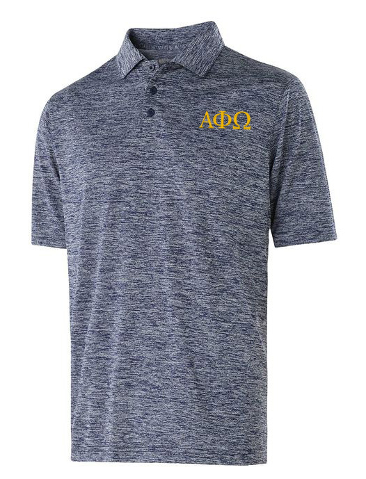Alpha Phi Omega Small Greek Letter Electrify Polo