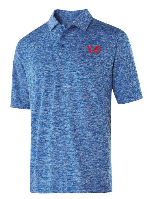 Chi Phi Small Greek Letter Electrify Polo