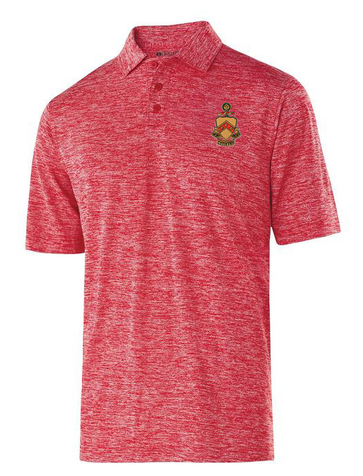 Phi Kappa Tau Greek Crest Emblem Electrify Polo