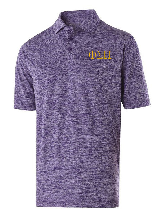 Phi Sigma Pi Small Greek Letter Electrify Polo