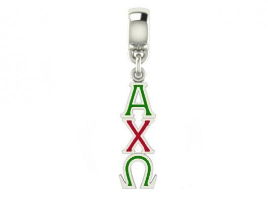 Alpha Chi Omega Color Filled Stainless Lavaliere Necklace - ON SALE!