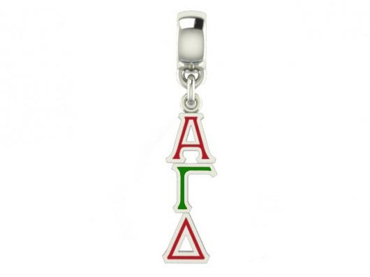 Alpha Gamma Delta Color Filled Stainless Lavaliere Necklace - ON SALE!