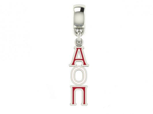 Alpha Omicron Pi Color Filled Stainless Lavaliere Necklace - ON SALE!