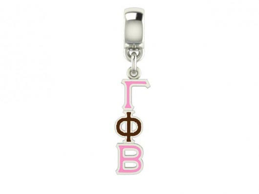 Gamma Phi Beta Color Filled Stainless Lavaliere Necklace - ON SALE!