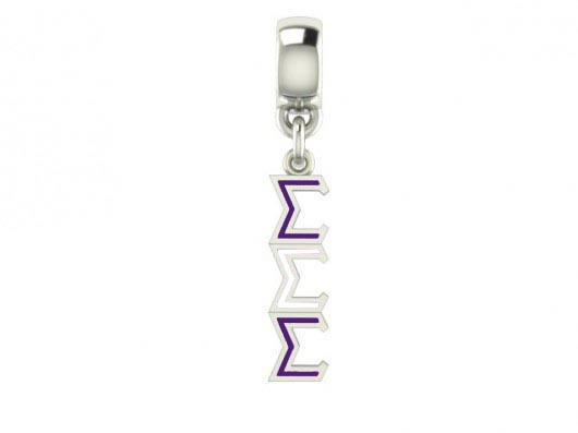 Sigma Sigma Sigma Color Filled Stainless Lavaliere Necklace - ON SALE!