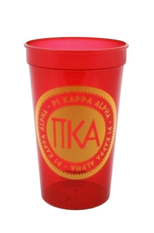 Set of 10 - Pi Kappa Alpha Big Ancient Greek Letter Stadium Cup - Clearance!!!