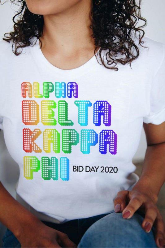 alpha Kappa Delta Phi Pixel Tee - Comfort Colors
