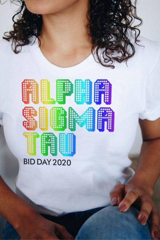 Alpha Sigma Tau Pixel Tee - Comfort Colors
