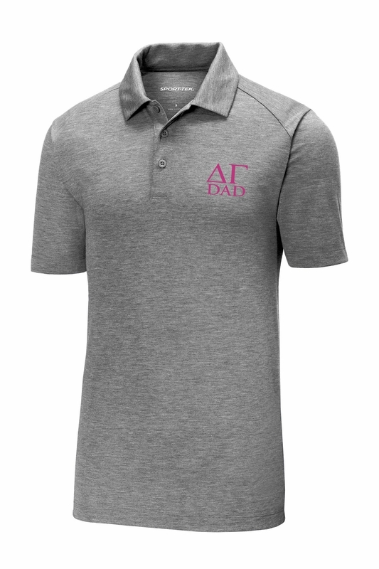 Delta Gamma Dad Posicharge Tri Blend Wicking Polo