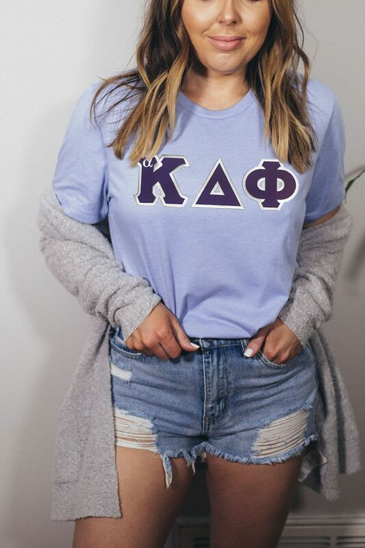 DISCOUNT alpha Kappa Delta Phi Lettered Tee