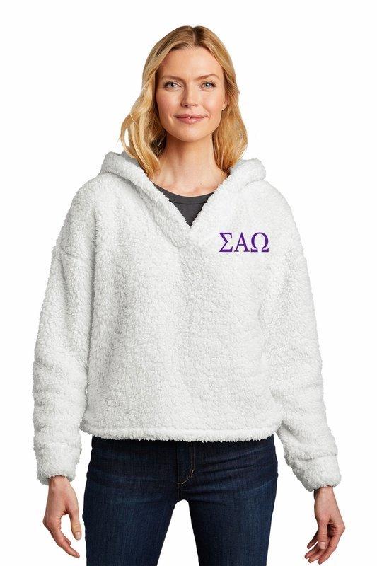 Sigma Alpha Omega Cozy Fleece Hoodie