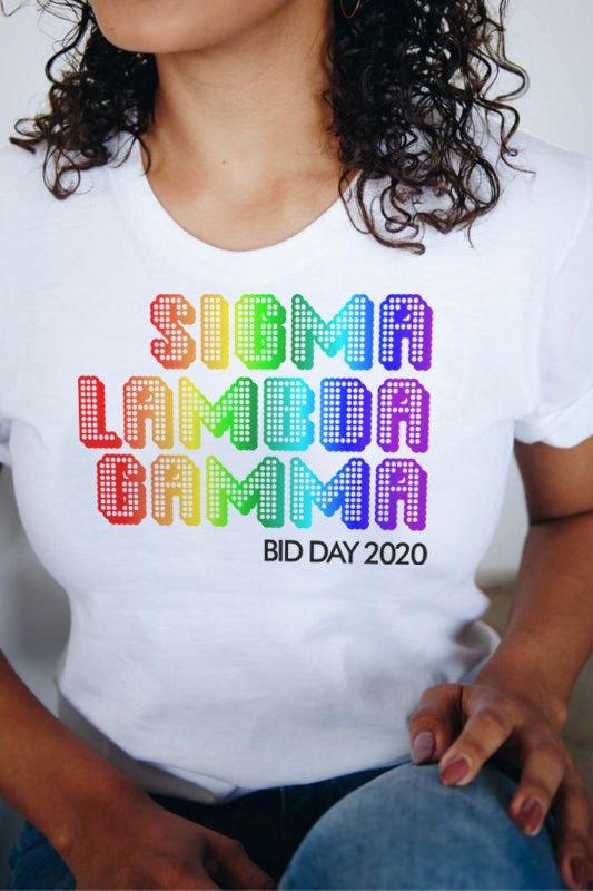 Sigma Lambda Gamma Pixel Tee - Comfort Colors