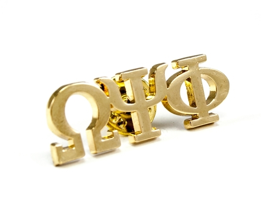 Omega Psi Phi 14K Plated Lapel Pin