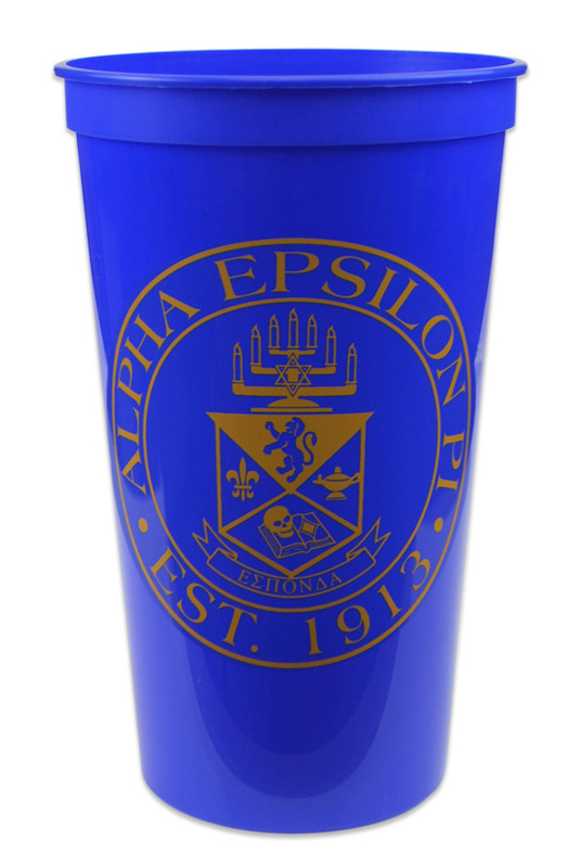 CLOSEOUT Alpha Epsilon Pi Big Plastic Stadium Cup - 10 FOR $10!