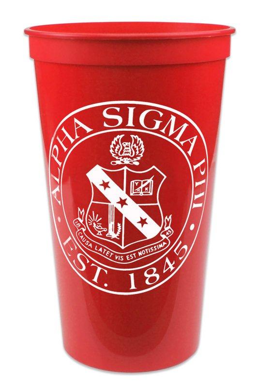 Alpha Sigma Phi Big Plastic Stadium Cup