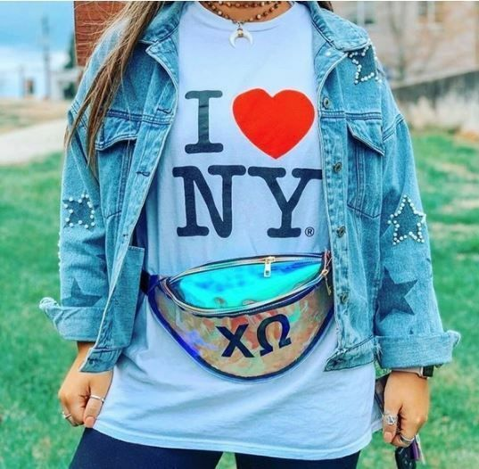 Sorority Holographic Fanny Pack
