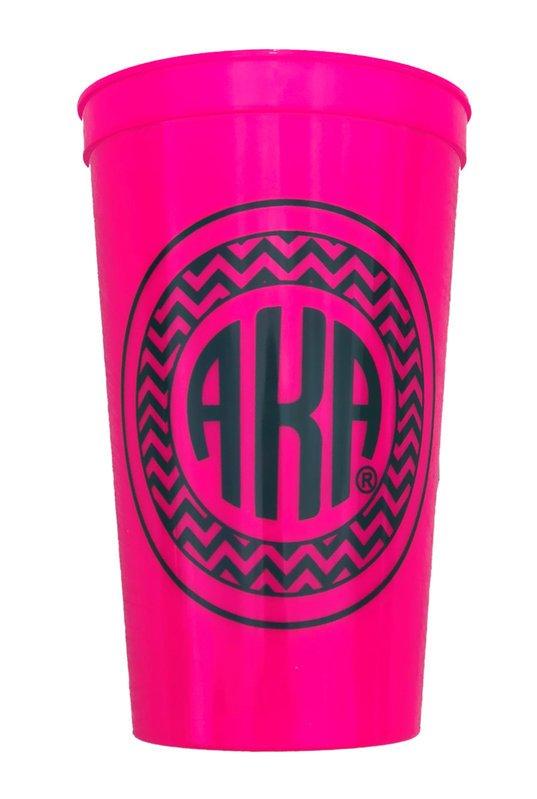BULK DEAL - Alpha Kappa Alpha Monogrammed Giant Plastic Cup (Set of 10)