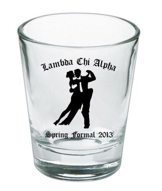 Custom Printed Short Glass Design #1
