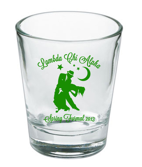 Custom Printed Short Glass Design #7