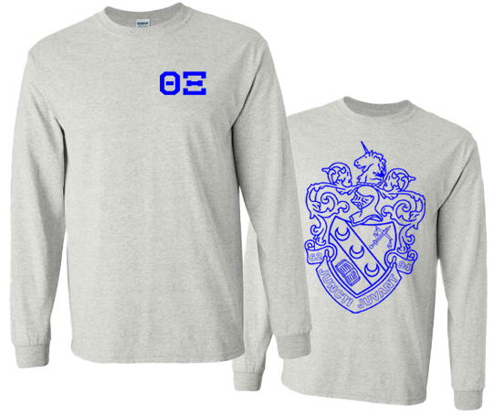 Theta Xi World Famous Crest - Shield Long Sleeve T-Shirt- $19.95!