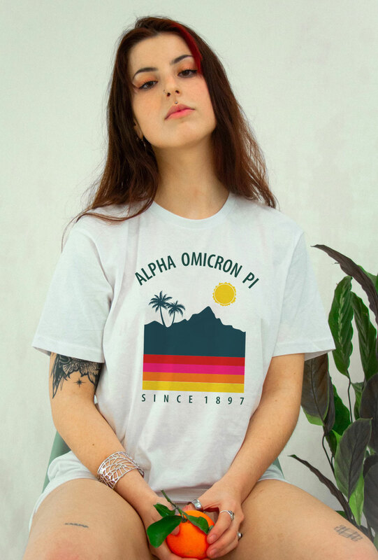 Alpha Omicron Pi Tropical Tee - Comfort Colors