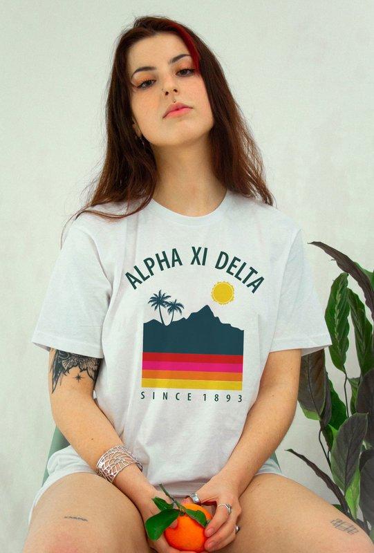Alpha Xi Delta Tropical Tee - Comfort Colors