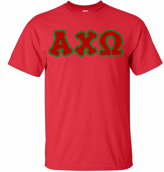 Alpha Chi Omega Bubble Twill T-Shirt