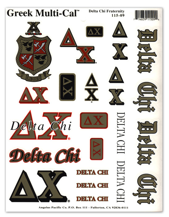 Multi Greek Decal Sheet