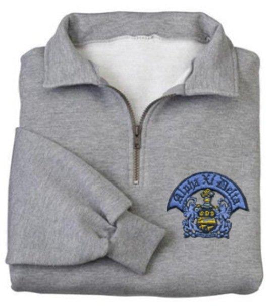 DISCOUNT-Fraternity & Sorority Greek Emblem 1/4 Zip Pullover