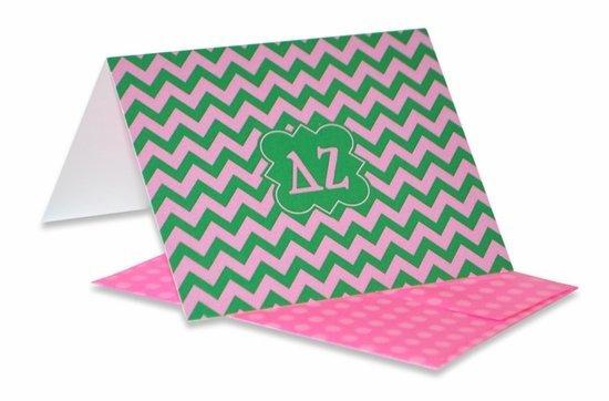 Sorority Chevron Note Cards w/ Envelopes (10)