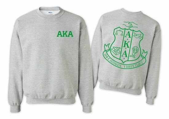Alpha Kappa Alpha World Famous Crest - Shield Crewneck Sweatshirt- $25!