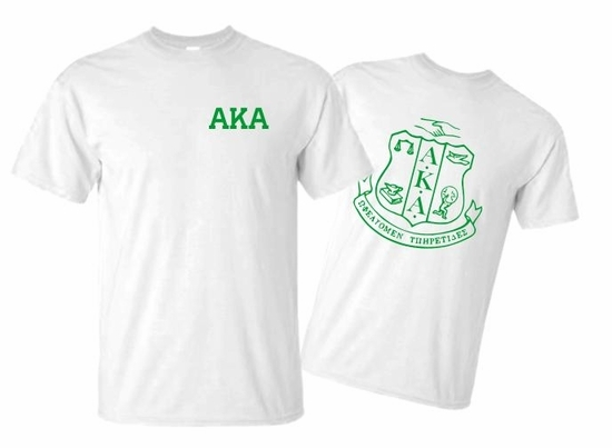 AKA World Famous Crest - Shield Tee  - MADE FAST!