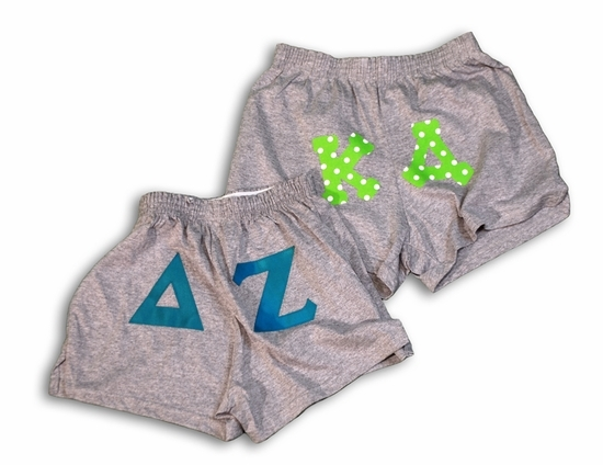 Lettered Sorority Cheering Shorts